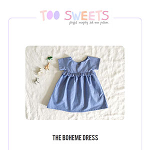 Too Sweets Boheme Dress Sewing Pattern