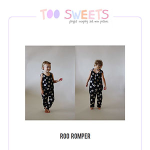 Too Sweets Roo Romper Sewing Pattern