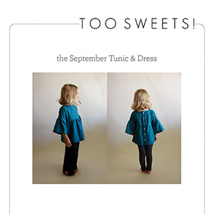 Too Sweets September Tunic Sewing Pattern