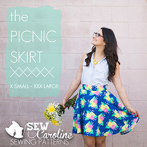 Sew Caroline Picnic Skirt Sewing Pattern