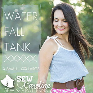 Sew Caroline Waterfall Tank Sewing Pattern