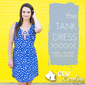 Sew Caroline Tank Dress Sewing Pattern