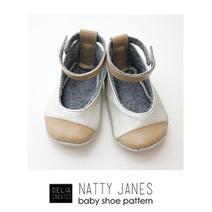 Delia Creates Natty Janes Baby Shoe Sewing Pattern