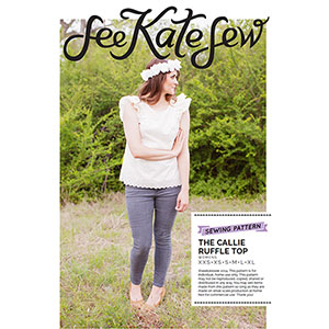 See Kate Sew Callie Ruffle Top Sewing Pattern