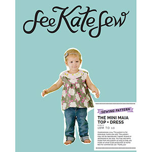 See Kate Sew Mini Maia Top + Dress Sewing Pattern