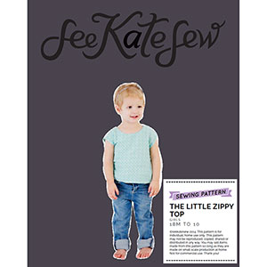 See Kate Sew Little Zippy Top Sewing Pattern