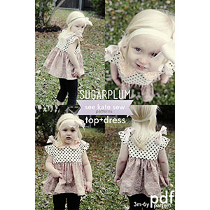 See Kate Sew Sugarplum Top + Dress Sewing Pattern