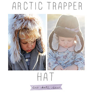 See Kate Sew Artic Trapper Hat Sewing Pattern