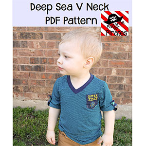 Patterns for Pirates Deep Sea V-Neck Sewing Pattern