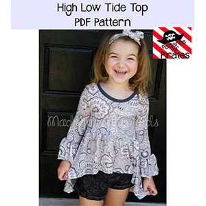 Patterns for Pirates High Low Tide Top Sewing Pattern