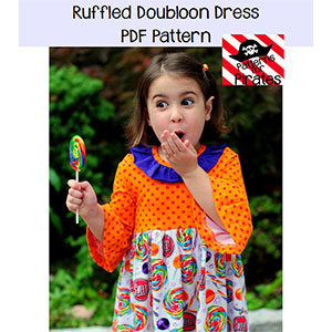 Patterns for Pirates Ruffled Doubloon Dress Sewing Pattern