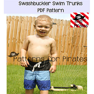 Patterns for Pirates Swashbuckler Swim Trunks Sewing Pattern