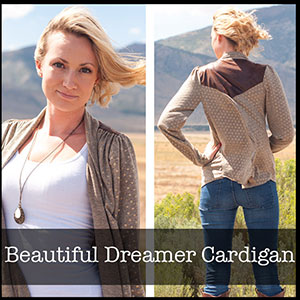 Shwin Designs Beautiful Dreamer Cardigan Sewing Pattern