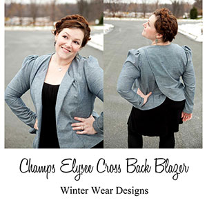 Winter Wear Designs Champs Elysee Cross Back Blazer Sewing Pattern
