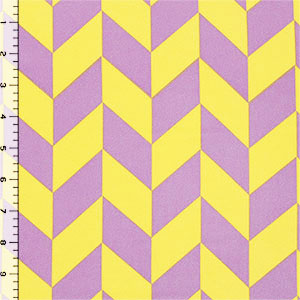 Purple Yellow Arrows Wool Dobby Hi Multi Chiffon Fabric